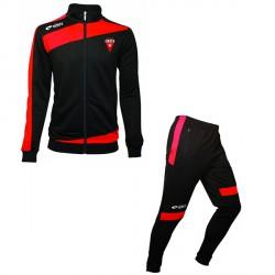 Survêtement PRESTIGE Rouge/Noir + Logo Club